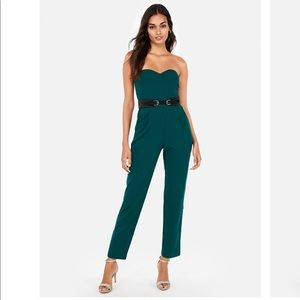 Deep teal jumpsuit from Express
